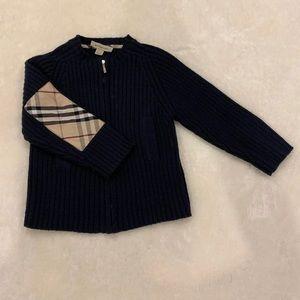 Kids Burberry Zip-Up Sweater.